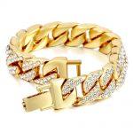 14mm-Men-s-Bracelet-Hip-Hop-Miami-Cuban-Link-Gold-Silver-color-Iced-Out-Paved-Rhinestones-1