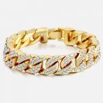 14mm-Men-s-Bracelet-Hip-Hop-Miami-Cuban-Link-Gold-Silver-color-Iced-Out-Paved-Rhinestones