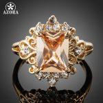 AZORA-Fancy-Brand-Design-Gold-Color-Stellux-Austrian-Crystal-Ring-TR0086