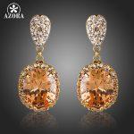 AZORA-Gold-Color-Champagne-Cubic-Zirconia-Drop-Earrings-TE0134