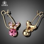 AZORA-Gold-Color-Pink-Stellux-Austrian-Crystal-Butterfly-Drop-Earring-TE0014-1