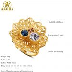 AZORA-Multicolor-Austrian-Crystal-Flower-Adjustable-Size-Ring-for-Women-Wholesale-Fashionable-Wedding-Jewelry-Accessories-TR0224-4