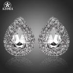 AZORA-Waterdrop-Design-Clear-Cubic-Zirconia-Stud-Earrings-TE0112