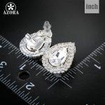 AZORA-Waterdrop-Design-Clear-Cubic-Zirconia-Stud-Earrings-TE0112-2