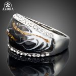 AZORA-White-Gold-Color-Stellux-Austrian-Crystal-Black-and-White-Pattern-Ring-TR0013-1