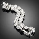 AZORA-White-Gold-Color-Stellux-Austrian-Crystal-Multicolour-Round-End-to-End-Bracelet-TS0005-1