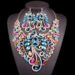 Big-Crystal-Bridal-Jewelry-Sets-Wedding-Party-Costume-Accessory-Indian-Necklace-Earrings-for-bride-Peacock-jewellery