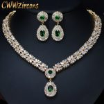 CWWZircons-Top-Quality-Yellow-Gold-Color-Green-African-Cubic-Zirconia-Beads-Bridal-Wedding-Jewelry-Sets-for
