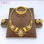 Liffly-Fashion-Gold-Women-Jewelry-Sets-Big-Necklace-Ring-Nigerian-Wedding-Party-Luxury-African-Jewelry-Set-1