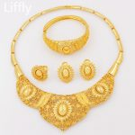 Liffly-Fashion-Gold-Women-Jewelry-Sets-Big-Necklace-Ring-Nigerian-Wedding-Party-Luxury-African-Jewelry-Set