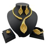 New-African-Jewelry-Sets-for-Women-Y-Necklace-Bangle-Earrings-Ring-Luxurious-Dubai-Gold-Jewellery-Set