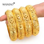 Wando-4Pcs-Wedding-Gold-Color-Jewelry-Bangles-For-Women-Girls-Bracelet-Arab-Ethiopian-jewelry-Bridal-Bangles
