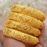 Wando-4Pcs-Wedding-Gold-Color-Jewelry-Bangles-For-Women-Girls-Bracelet-Arab-Ethiopian-jewelry-Bridal-Bangles-4