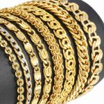 Yellow-Gold-Filled-Bracelet-for-Men-Women-Bismark-Curb-Snail-Chain-Wholesale-Bracelet-Fashion-Jewelry-3